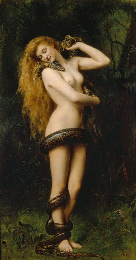 Lilith (1892) by John Collier in Southport Atkinson
